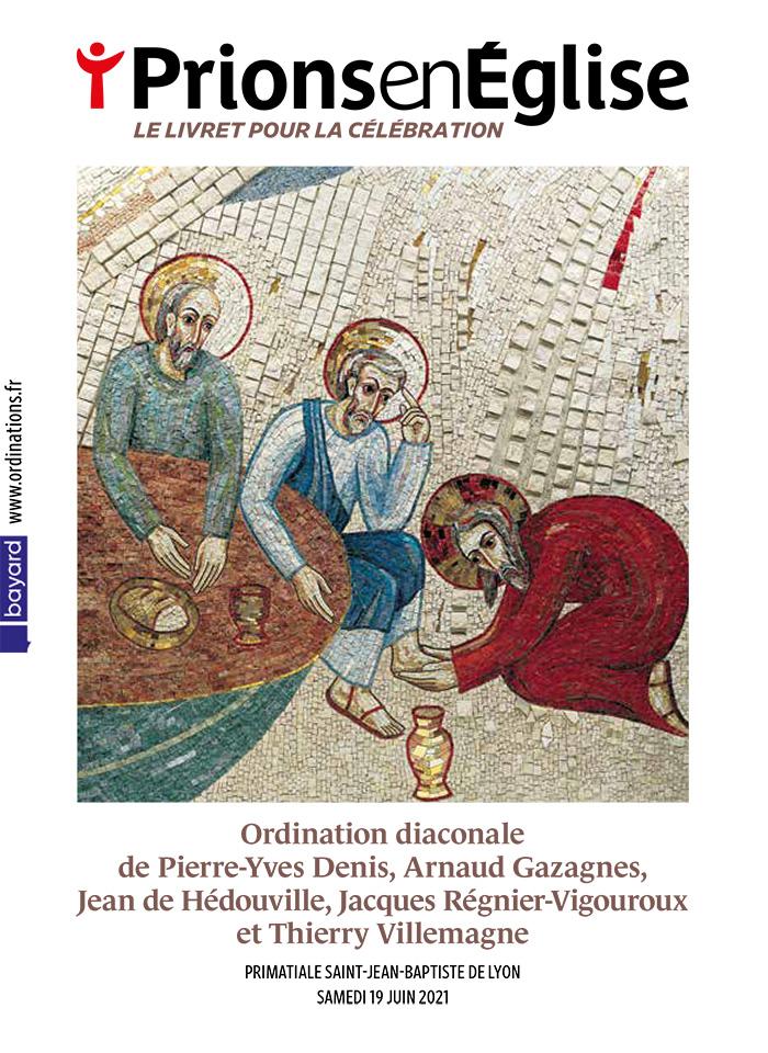 Ordination diaconale de Pierre-Yves Denis, Arnaud Gazagnes, Jean de Hédouville, Jacques Régnier-Vigouroux et Thierry Villemagne - Primatiale Saint-Jean-Baptiste de Lyon, le samedi 19 juin 2021 – Diocèse de Lyon