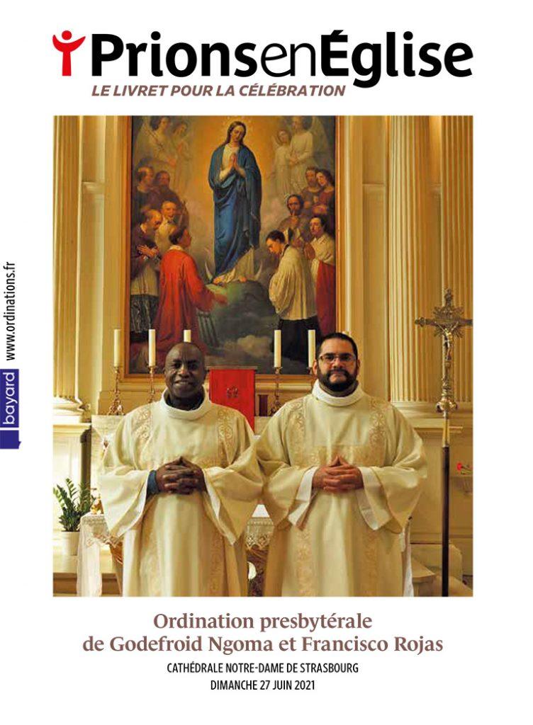 Ordination presbytérale de Godefroid Ngoma et Francisco Rojas, par Mgr Luc Ravel, archevêque de Strasbourg, en la cathédrale Notre-Dame de Strasbourg - le dimanche 27 juin 2021 - Diocèse de Strasbourg